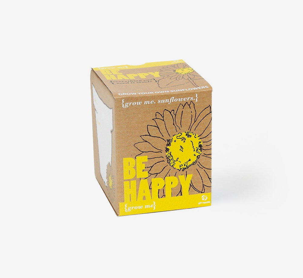 Be Happy Sunflower Kit by Grow MeCorporate Gifts  Bookblock