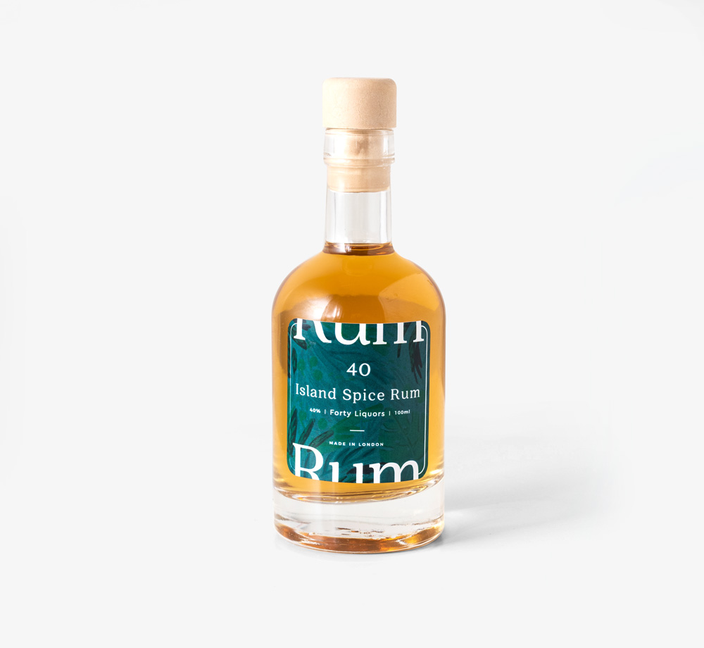 Island Spiced Rum 100ml by Forty LiquorsCorporate Gifts| Bookblock
