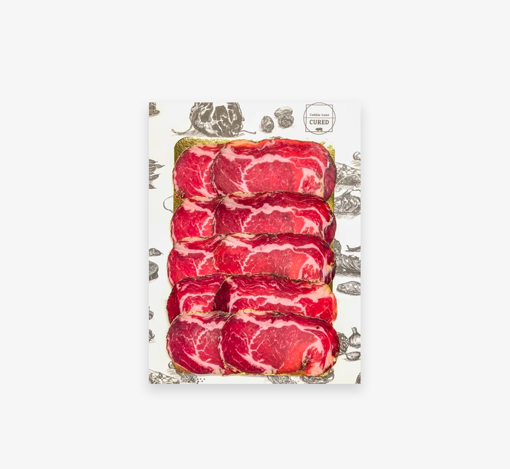 Sliced Meats – Coppa 60g by Cobble Lane CuredCorporate Gifts| Bookblock