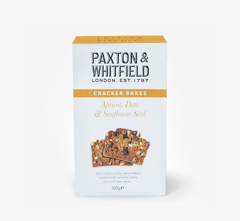 Apricot, Date & Seed Cracker Bakes by Paxton & WhitfieldCorporate Gifts  Bookblock