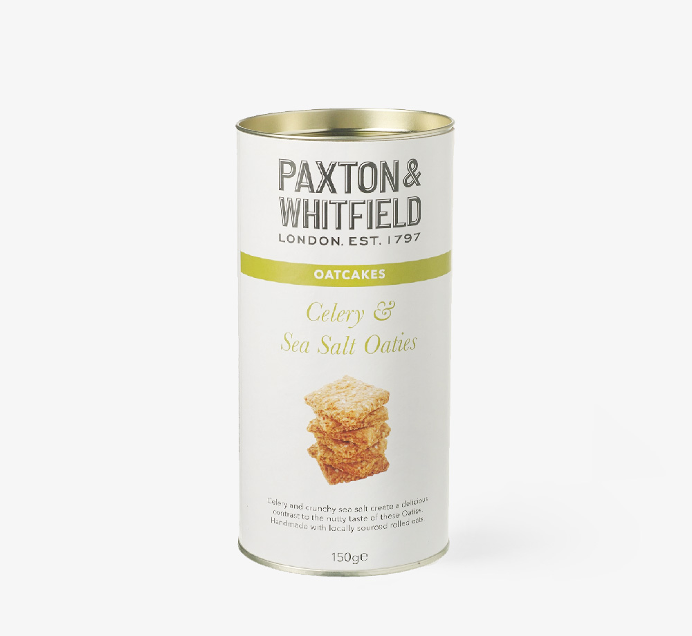Celery and Sea Salt Oaties 150g by Paxton & WhitfieldCorporate Gifts| Bookblock