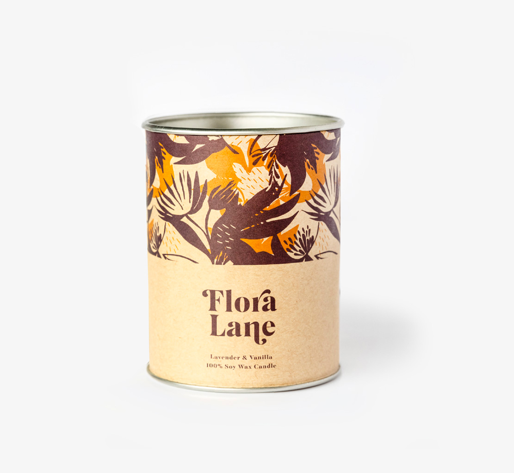 Lavender & Vanilla Candle by Flora LaneHome| Bookblock