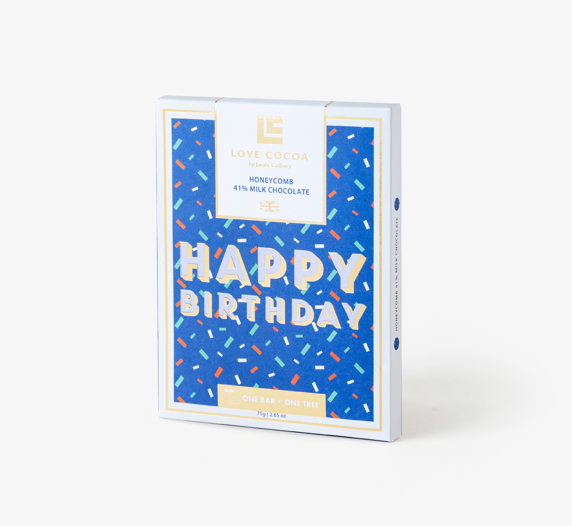 Honeycomb Birthday Milk Chocolate by Love CocoaEat & Drink| Bookblock