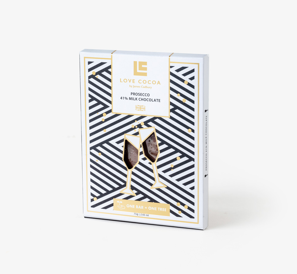 Prosecco 41% Milk Chocolate by Love CocoaEat & Drink| Bookblock