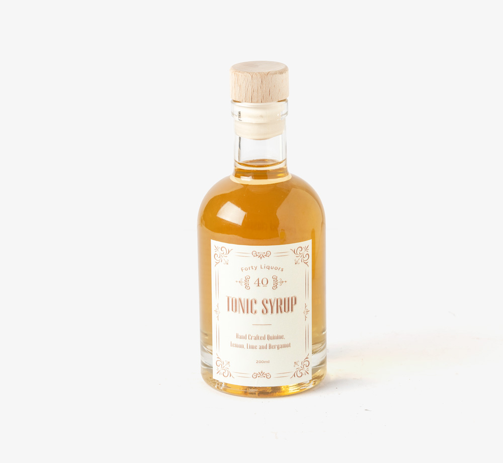 Quinine, Lemon & Lime Tonic Syrup 20cl by Forty LiquorsCorporate Gifts  Bookblock