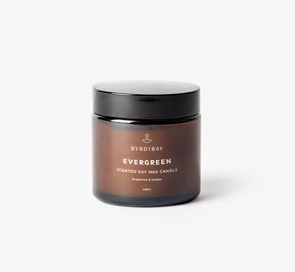 Evergreen 100ml Candle by Byrd & BayHome| Bookblock