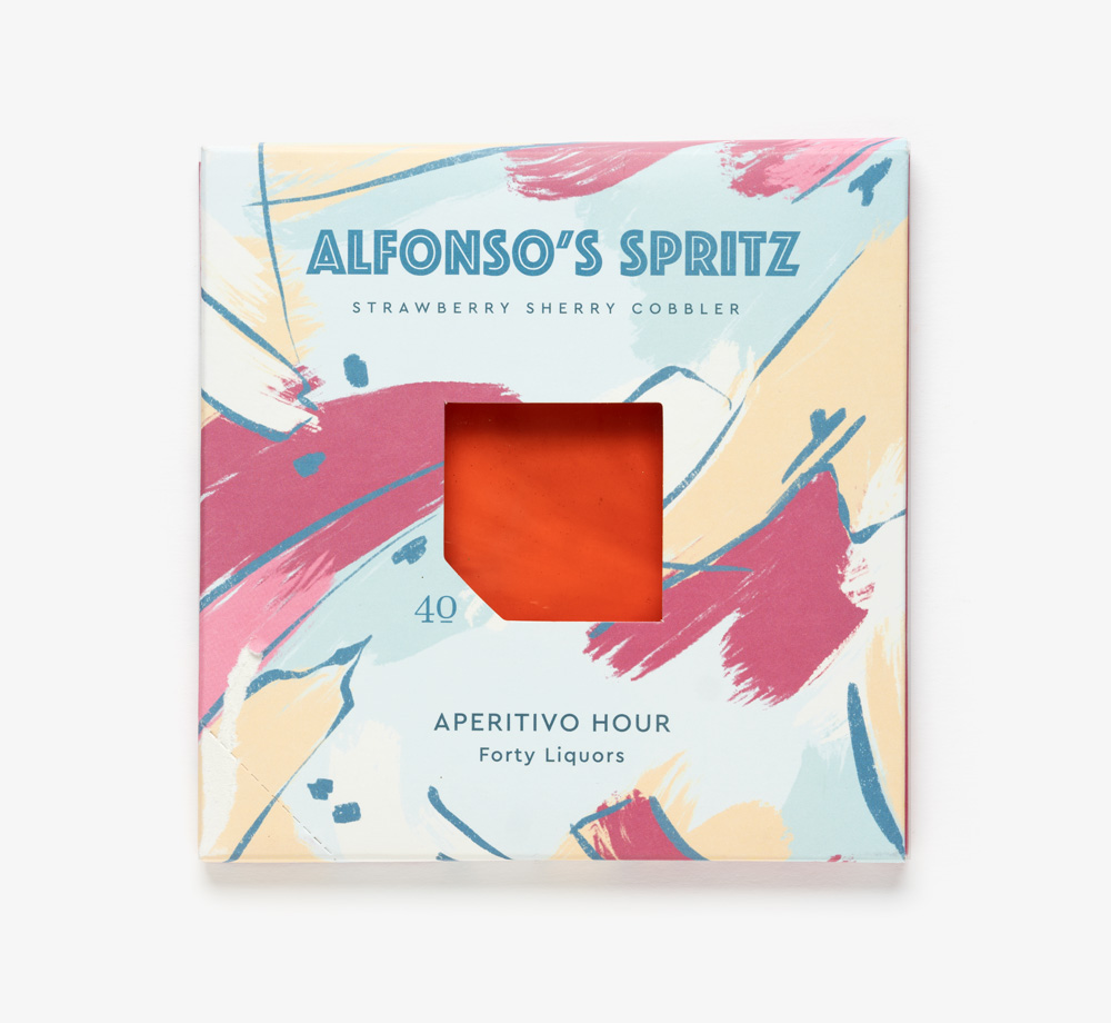 Alfonso's Spritz Strawberry Sherry Cobbler by Forty LiquorsEat & Drink| Bookblock