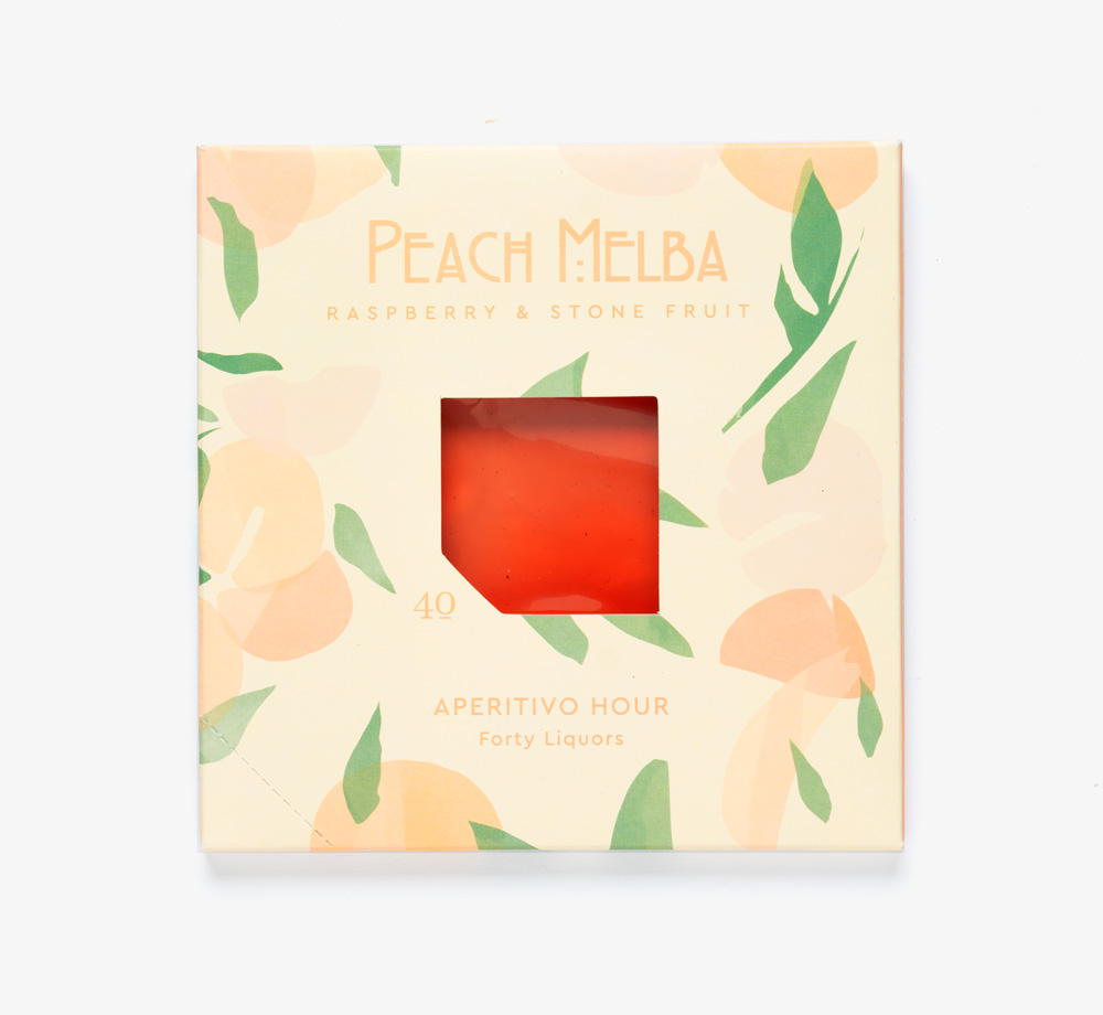 Peach Melba Spritz by Forty LiquorsEat & Drink| Bookblock