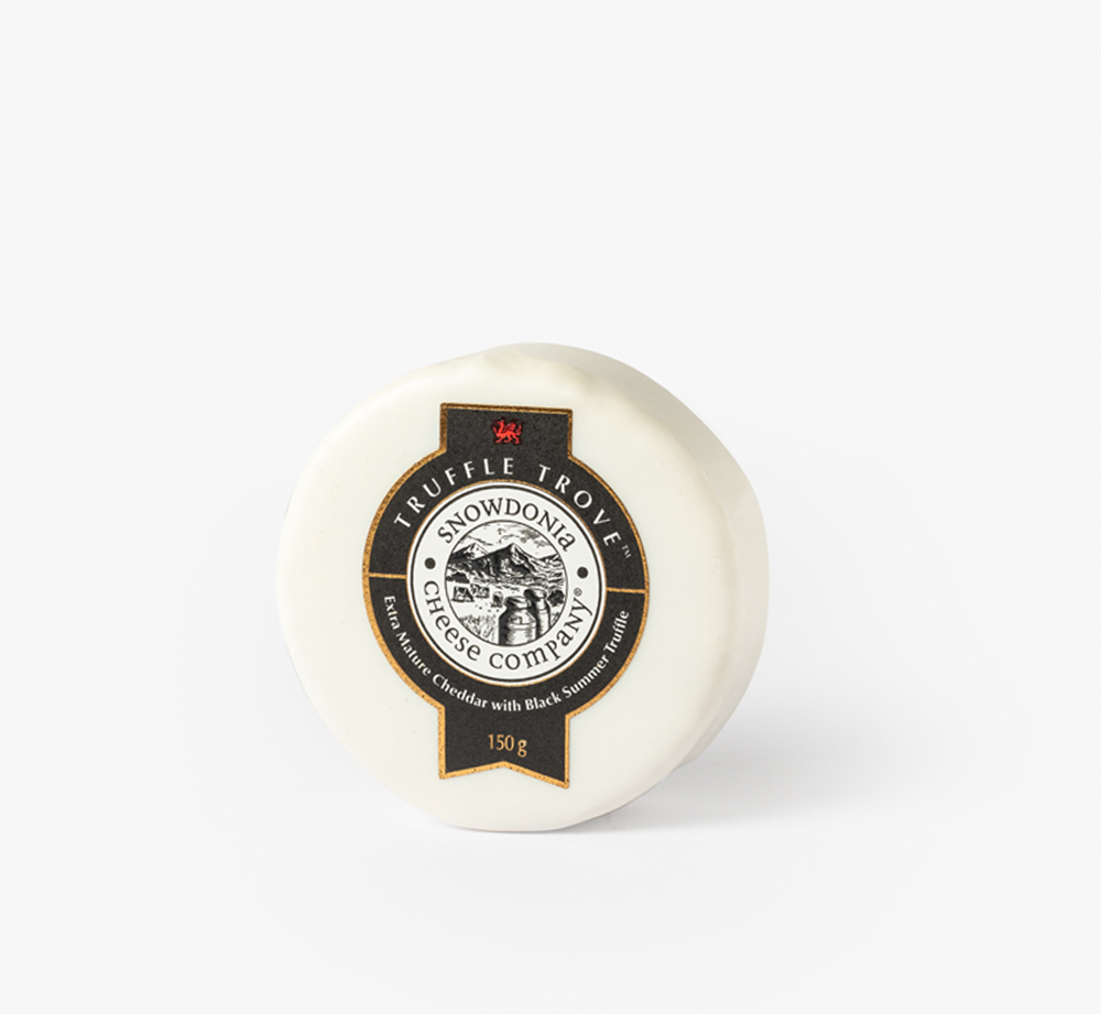 Extra Mature Cheddar with Summer Truffle 200g by Snowdonia Cheese CompanyCorporate Gifts| Bookblock