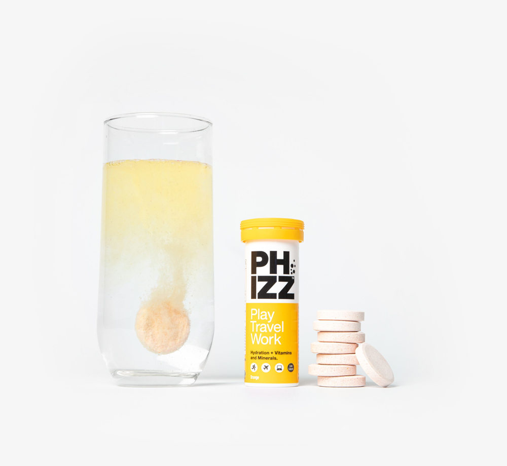 Orange Multivitamin Hydration Tablets by PhizzCorporate Gifts| Bookblock