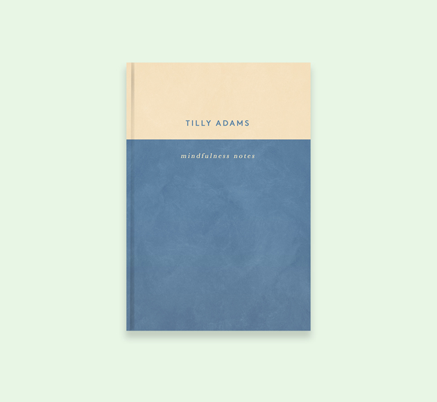 Blue and Cream Personalised Mindfulness Journal by Bookblock