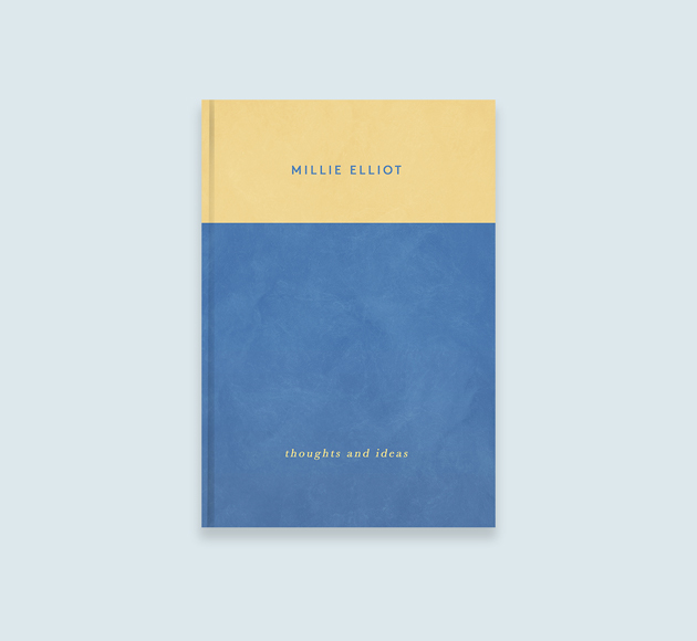 Blue & Yellow {personalised printed cover Notebook by Bookblock