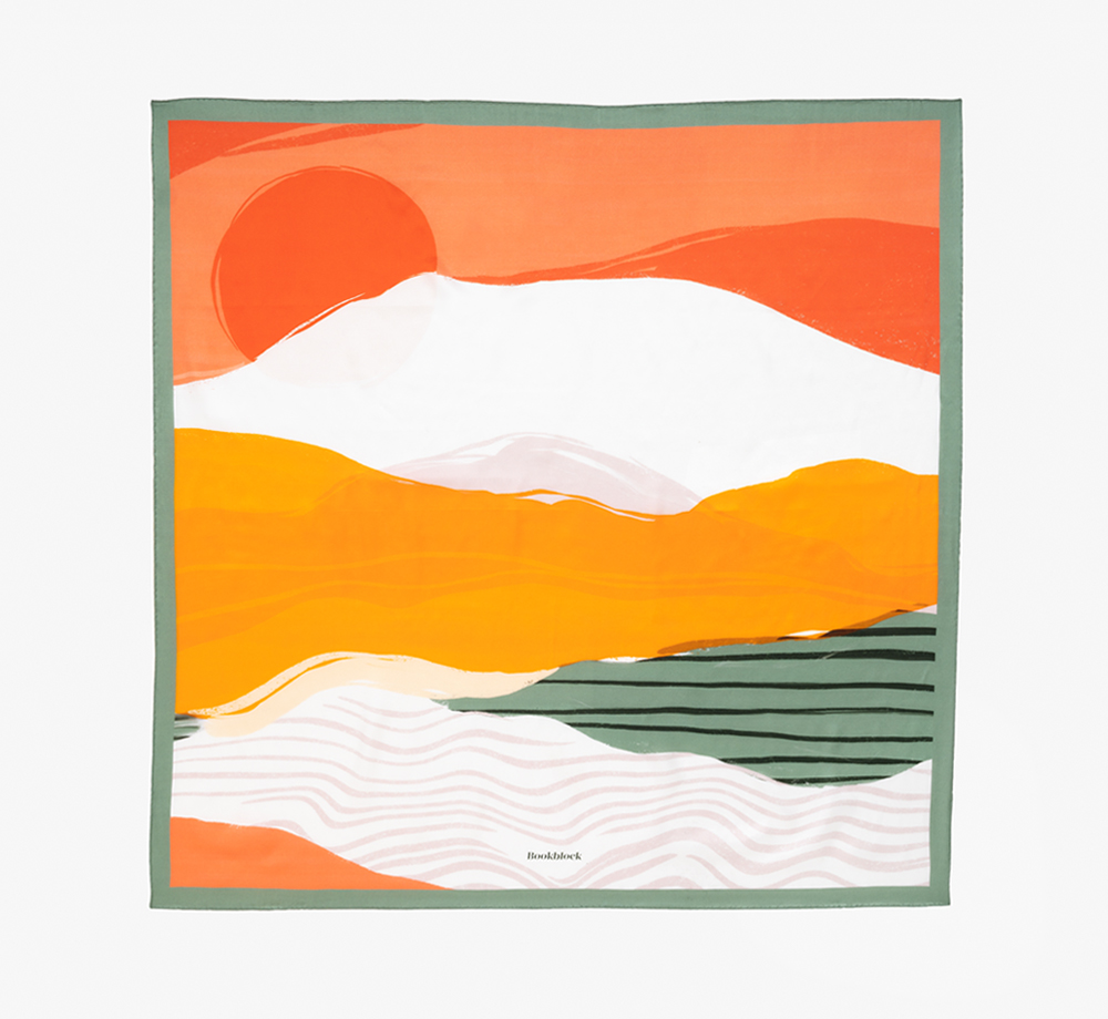 Sunset Print Silk Scarf by BookblockHome| Bookblock