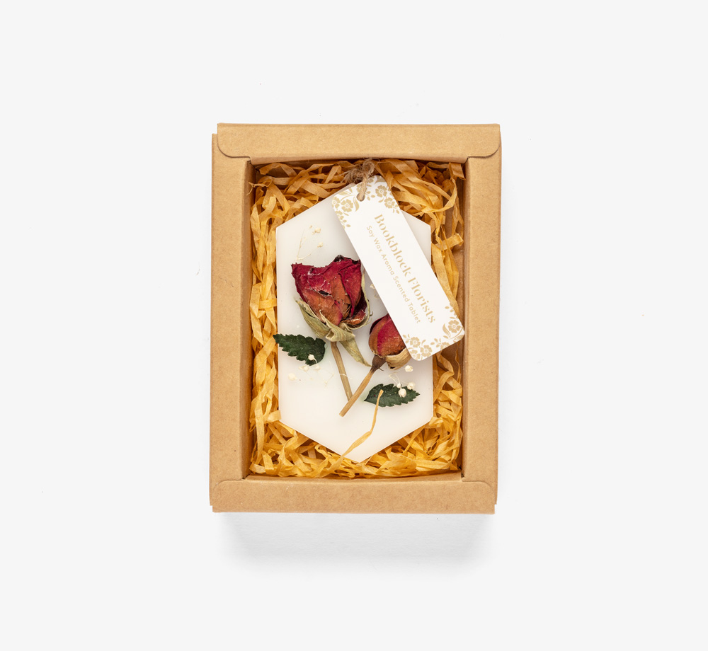 Rose Soy Wax Aroma Tablet by Bookblock FloristsHome| Bookblock
