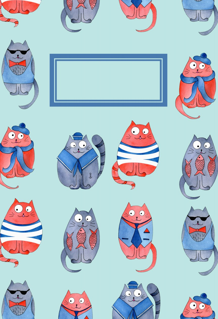 Cats In Blue