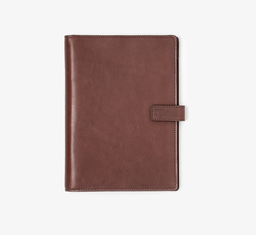 A5 Brown Leather Folio by BookblockLeather| Bookblock