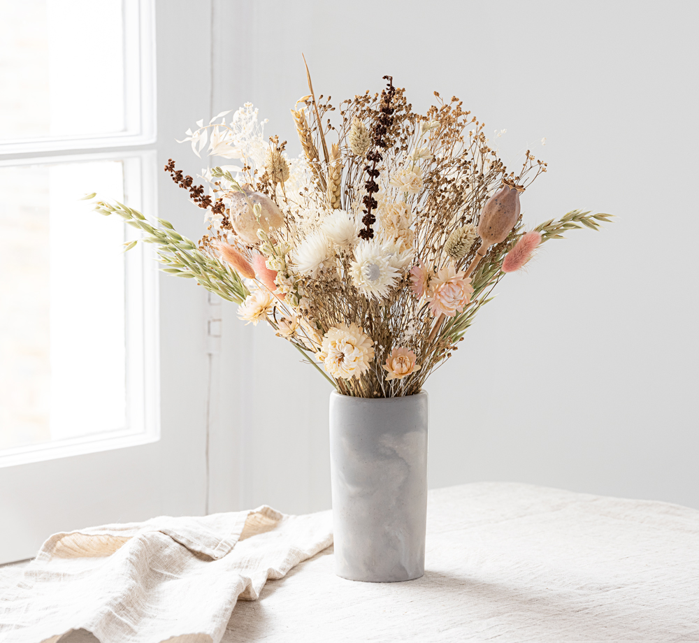 White Poppy Large Dried Bouquet by Bookblock FloristsCorporate Gifts  Bookblock