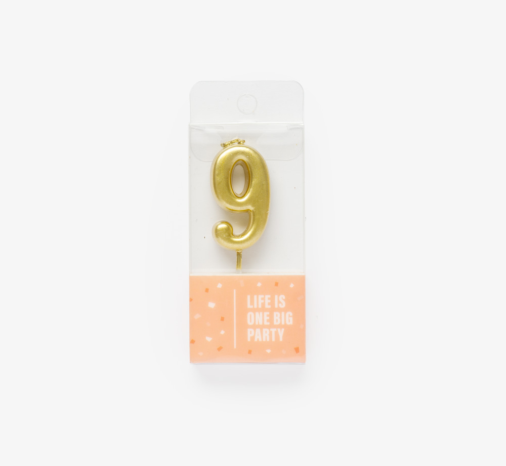 Gold Candle '9' by Life Is One Big PartyLifestyle & Games| Bookblock
