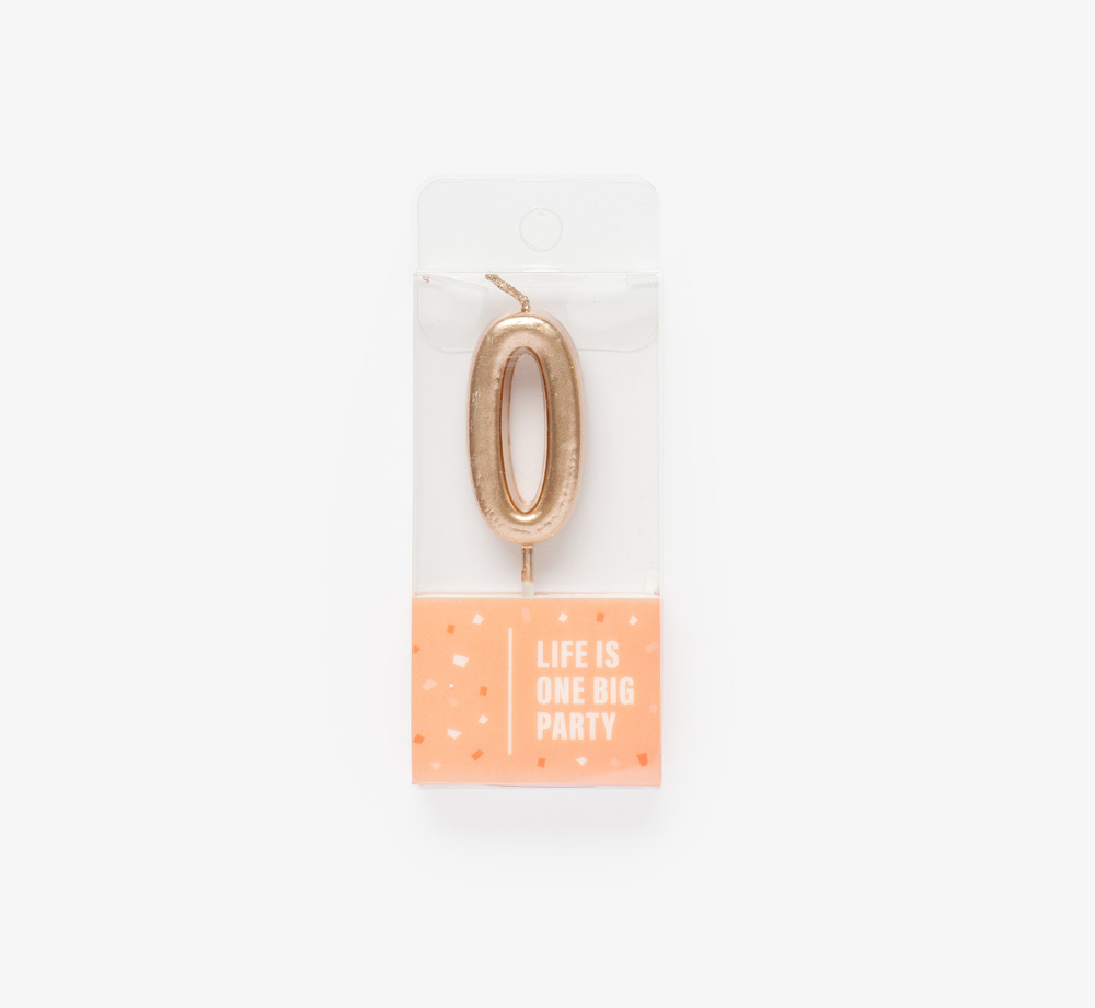Rose Gold Candle '0' by Life Is One Big PartyLifestyle & Games| Bookblock