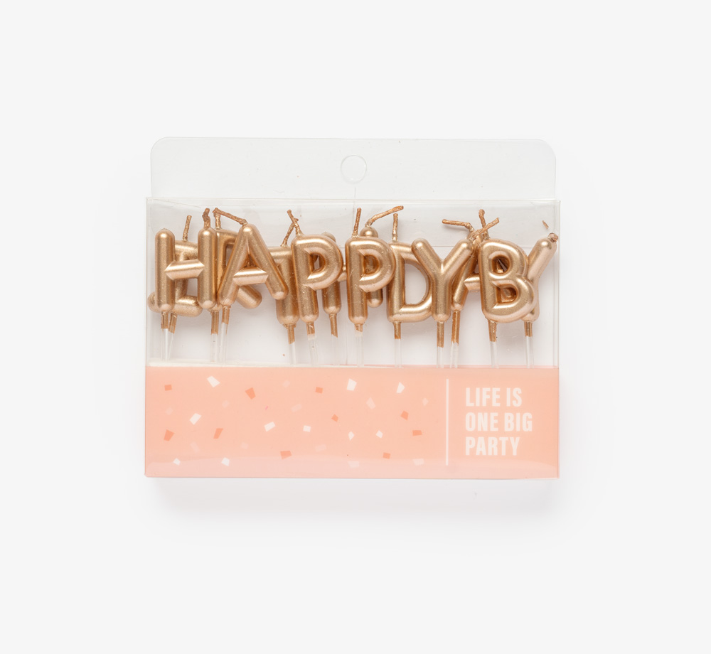 Happy Birthday Rose Gold Candles by Life Is One Big PartyLifestyle & Games| Bookblock