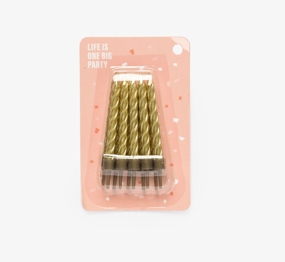 Pack of Gold Candles by Life Is One Big PartyLifestyle & Games  Bookblock