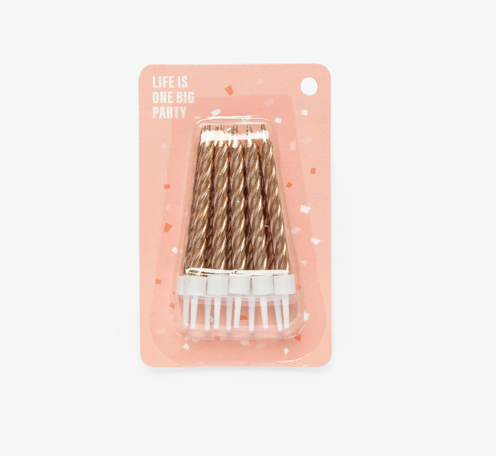 Pack of Rose Gold Candles by Life Is One Big PartyLifestyle & Games  Bookblock
