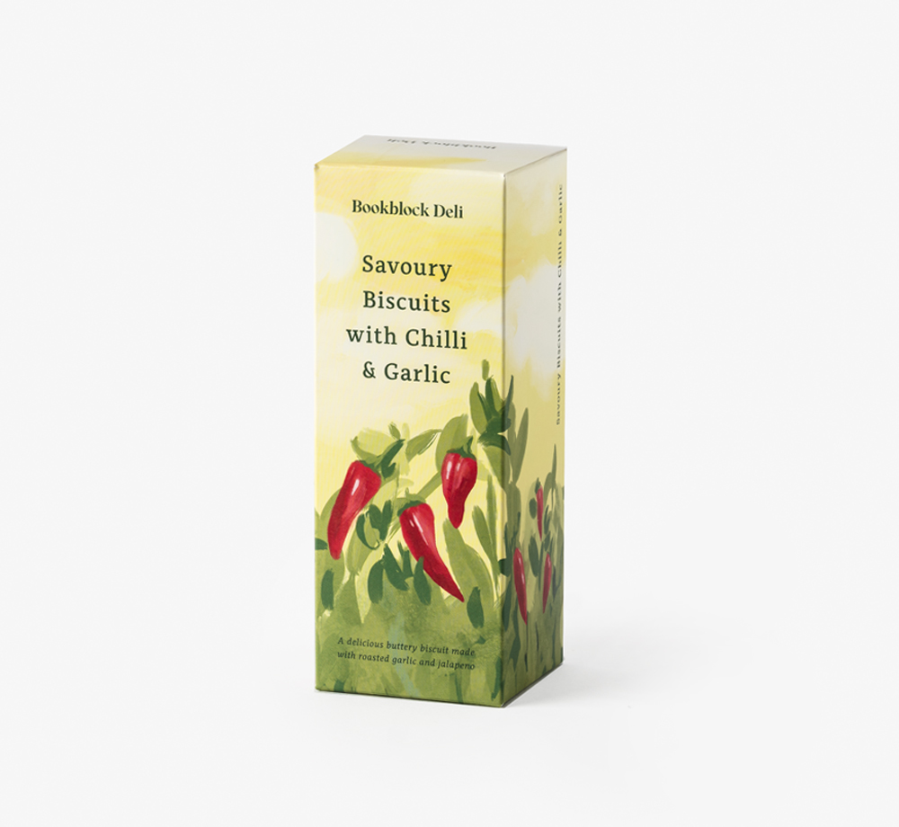 Savoury Biscuits with Chilli & Garlic by Bookblock DeliCorporate Gifts| Bookblock