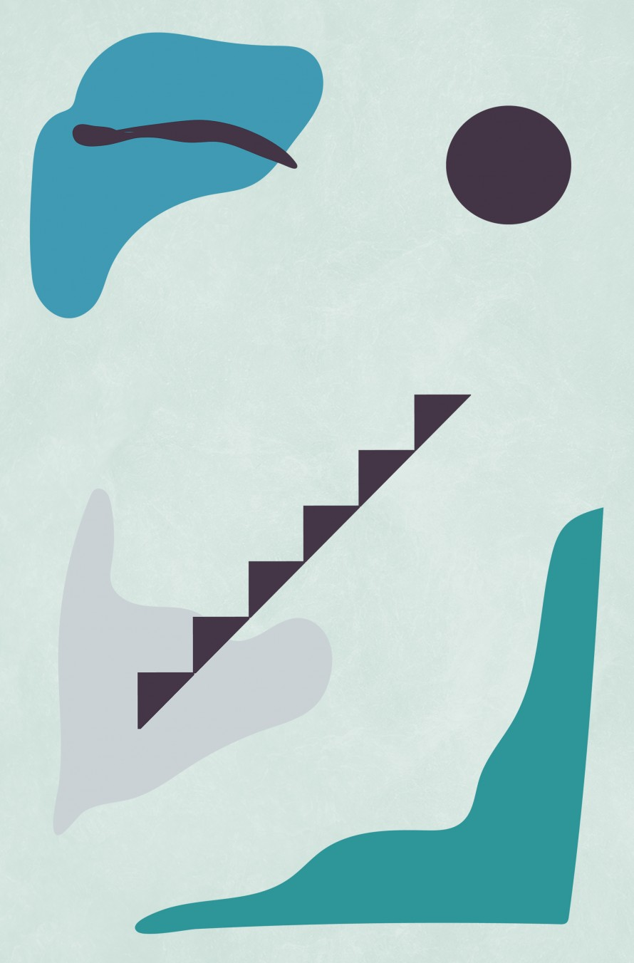 Abstract Shapes Blue