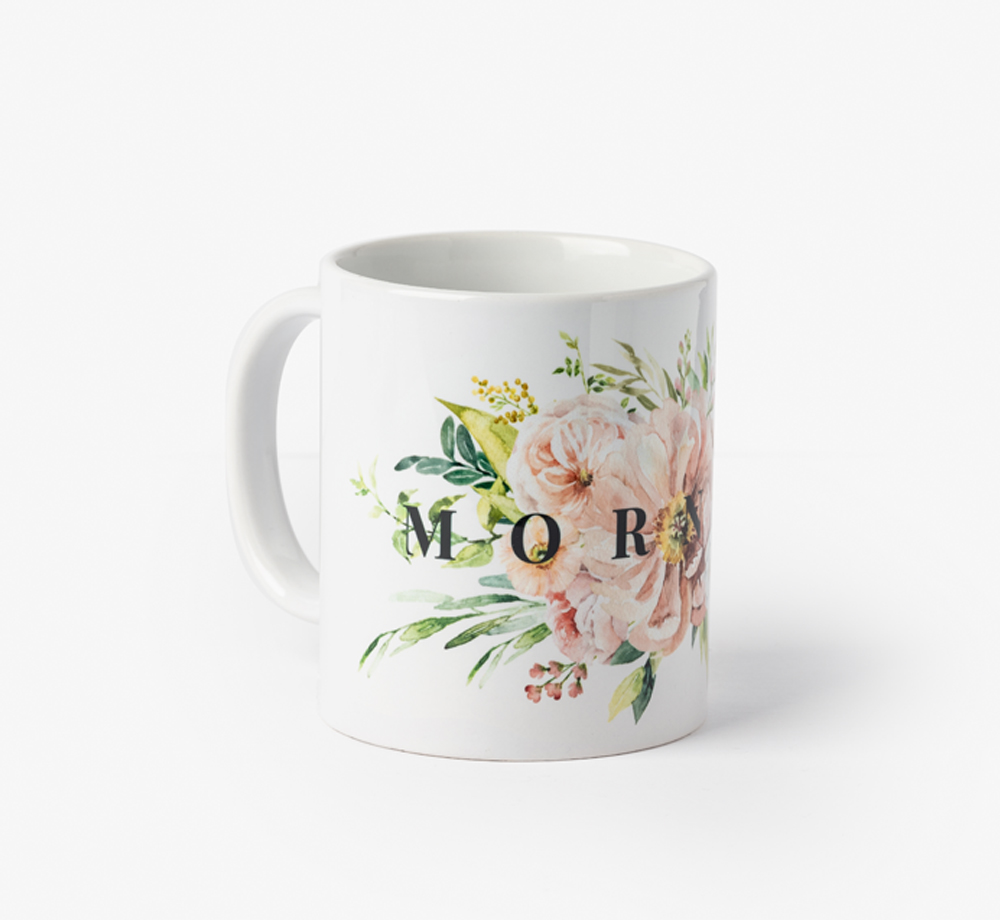 Morning Bloom Print Mug by BookblockHome| Bookblock