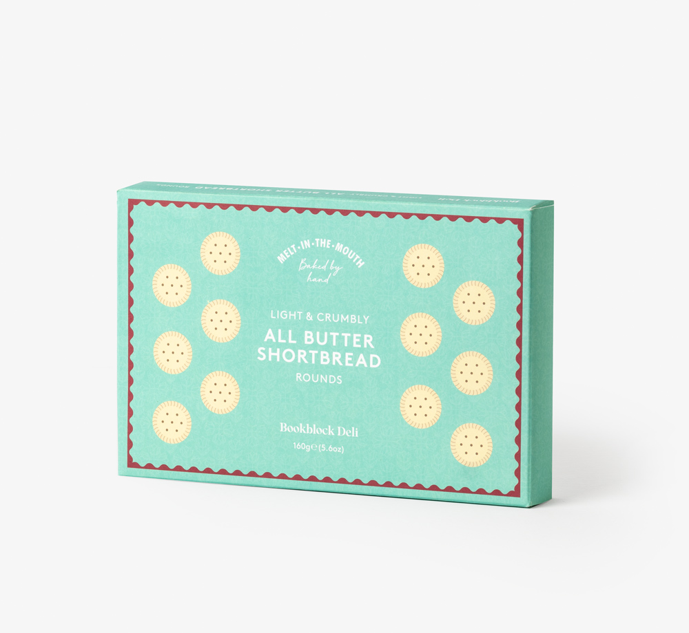 All Butter Shortbread Rounds 160g by Bookblock DeliCorporate Gifts  Bookblock