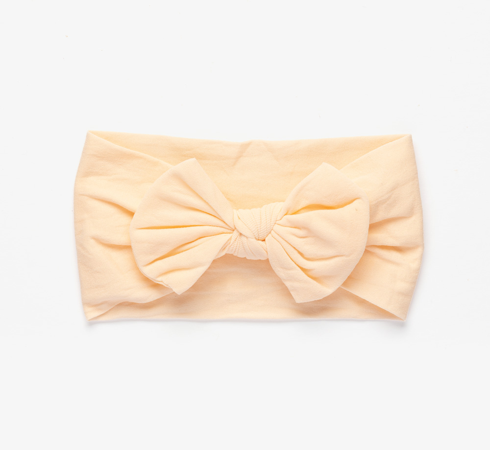 Pale Pink Hairband with Bow by BookblockBaby & Kids  Bookblock